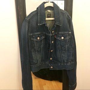 Levi's Denim Jacket - size S/P, dark wash
